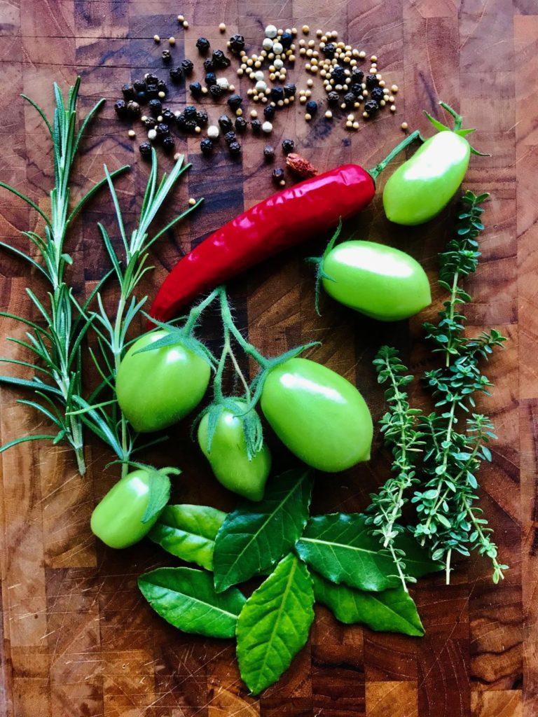 syltet grønne tomater